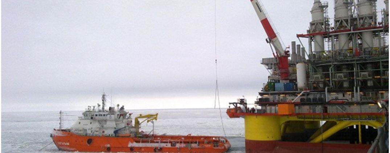 Морская ледостойкая стационарная платформа им. Ю. Корчагина