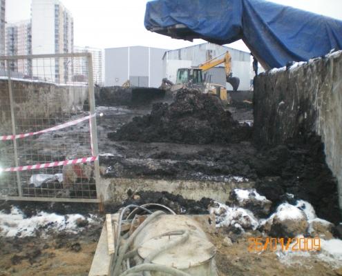 Строительство перегона Киевская - Парк Победы